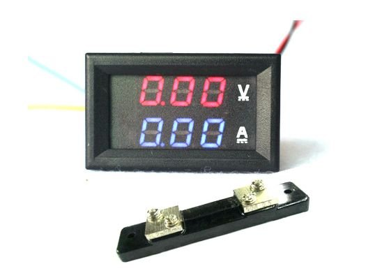 Voltímetro Amperímetro Digital 100v X 50a Led + Shunt
