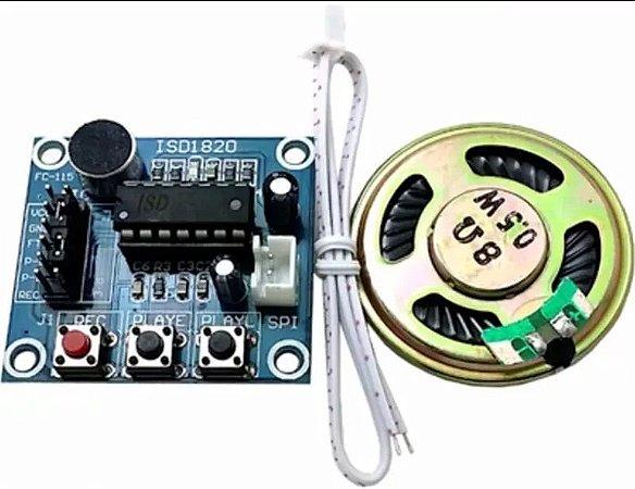 Isd1820 Módulo Gravação Reprodução Som Voz Player Arduino