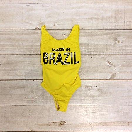 Body Made in Brazil Amarelo