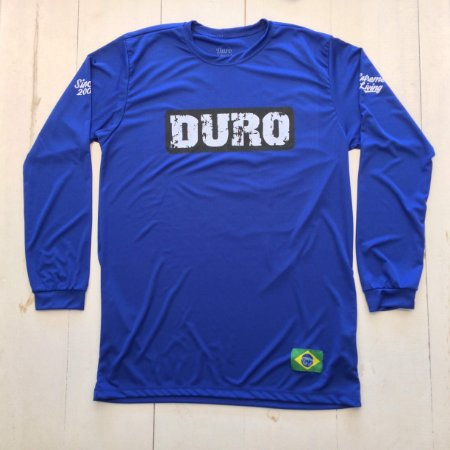 Camiseta Dry manga longa azul royal