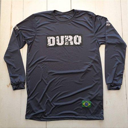 Camiseta Dry manga longa cinza