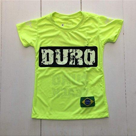 Camiseta Dry infantil verde fluo