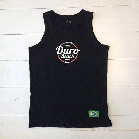Regata algodão Duro Beach preto