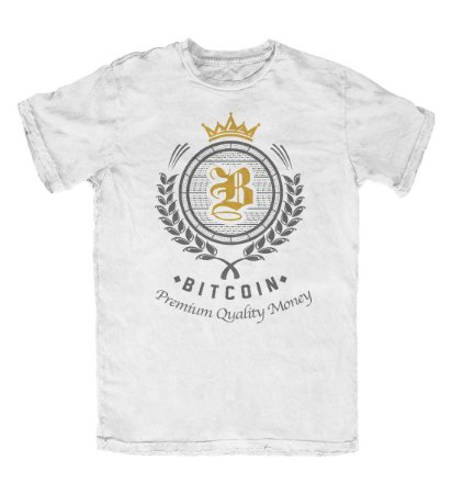 Camiseta Bitcoin Premium Quality Money Branca