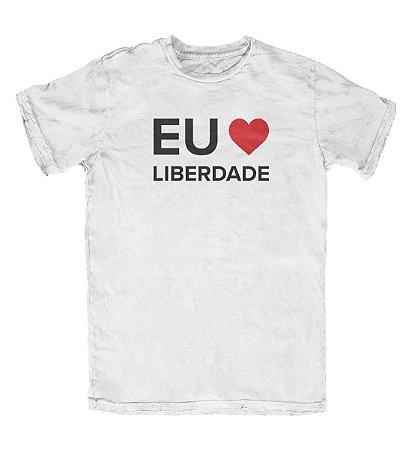 Camiseta Eu Amo Liberdade Branca