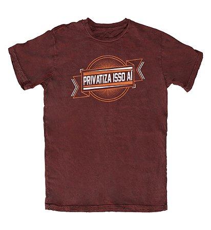 Camiseta Privatiza Isso Aí Vinho