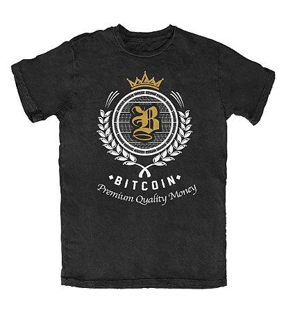 Camiseta Bitcoin Premium Quality Money Preta