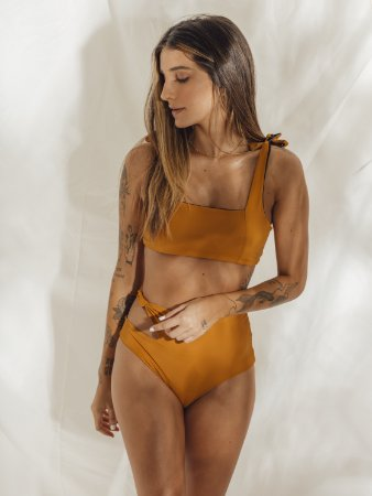 Top dupla face - Amarelo/Preto
