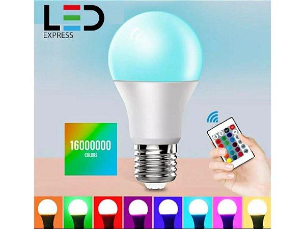 LAMPADA BULBO RGB 7W COM CONTROLE