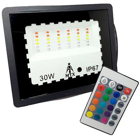 REFLETOR RGB COM MEMÓRIA 30W USO EXTERNO