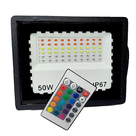 REFLETOR RGB COM MEMÓRIA 50W  USO EXTERNO