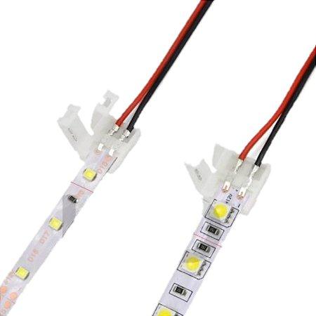 CONECTOR DE EMENDA PARA FITA LED 3528 8MM COM FIO