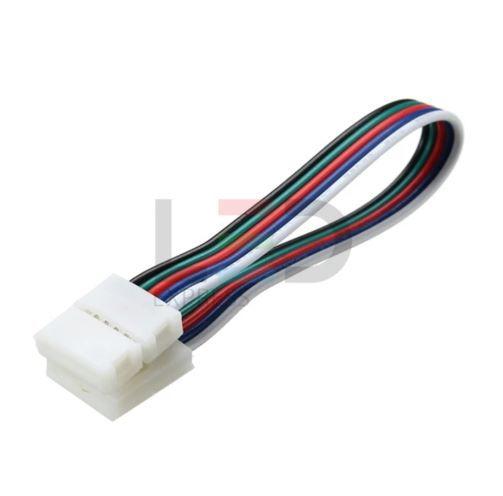 CONECTOR DE EMENDA PARA FITA LED 5050 10MM RGB COM FIO