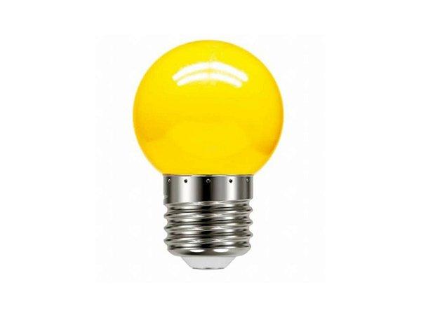 LAMPADA BOLINHA 1W AMARELA 127V