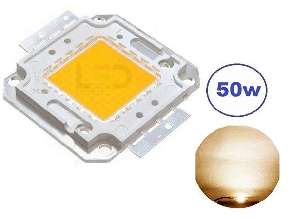 CHIP LED 50W 3000K BRANCO QUENTE (REPOSIÇÃO)