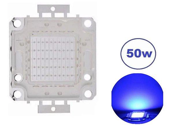 CHIP LED 50W AZUL (REPOSIÇÃO)