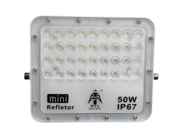 KIT 5 REFLETORES LED LIGHT 50W SMD 6500K IP67 CARCAÇA BRANCA