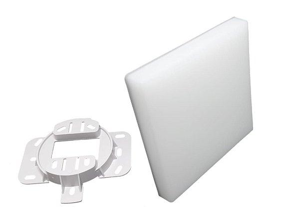 Plafon Led Borda Infinita Embutir ou Sobrepor Quadrado 12W  6500K Branco Frio