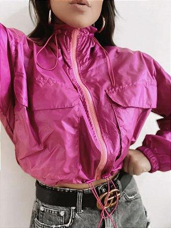 Jaqueta corta vento Pink