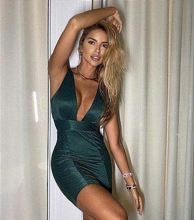 Vestido Brenda Verde tamanho M