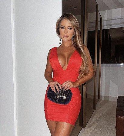 Vestido brenda vermelho tamanho M