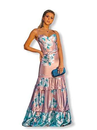 Vestido longo floral M