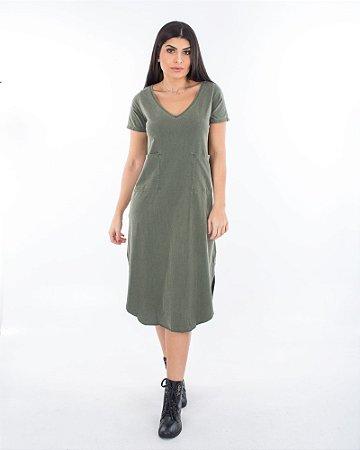 Vestido Santiago Verde Marmo