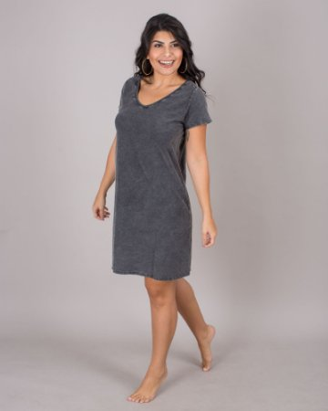 Vestido Basic Preto marmo