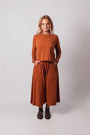 Blusa manga longa caramelo