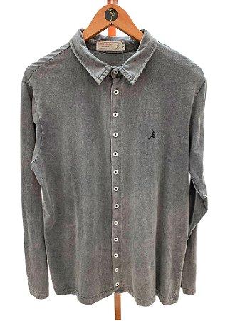 Camisa manga longa botões Cinza