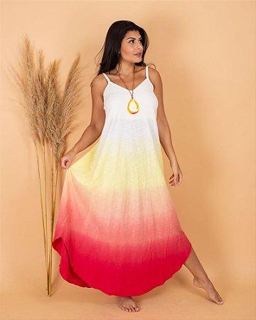vestido sonho rosa/ amarelo