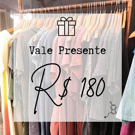 Vale-presente R$180,00