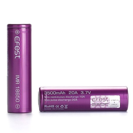 Bateria Efest 18650 3500mAh (não recomendada para aparelho Starry 3.0)