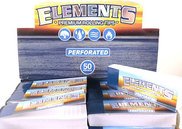 Piteira papel Elements perforated livreto com 50 folhas.