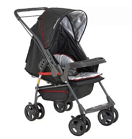 Carrinho de Bebê Milano Rever II (até 15 kg) - Preto - Galzerano