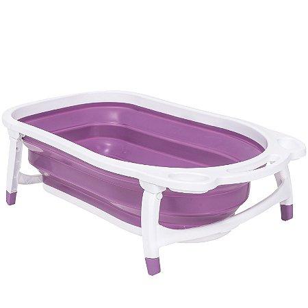 Banheira Dobrável Bubbles (até 30 kg) - Roxo - Kiddo