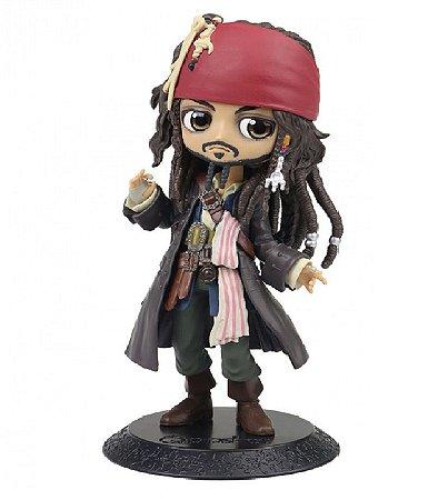 Action Figure - Jack Sparrow - Piratas do Caribe - Bandai Banpresto