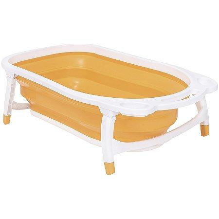Banheira Dobrável Bubbles (até 30 kg) - Amerelo - Kiddo