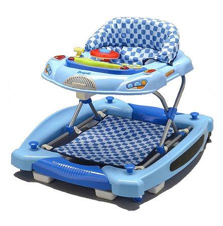 Andador E Centro De Atividades Baby Coupé - Azul - Burigotto