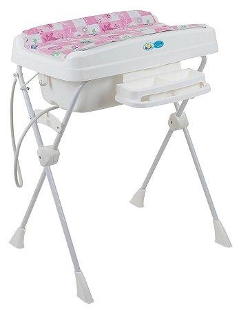 Banheira Para Bebê Millenia - Peixinhos Rosa - Burigotto