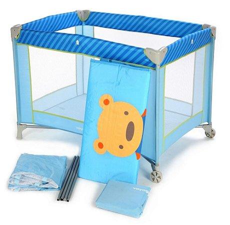 Berço Portatil Fit - Azul Puppy - Voyage