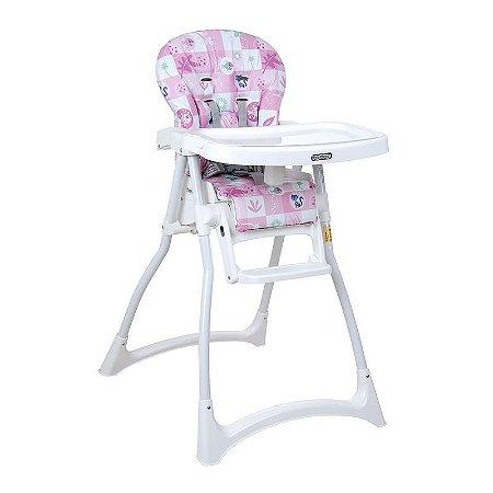 Cadeira de Alimentação Merenda (até 15 kg) - Passarinhos Rosa - Burigotto