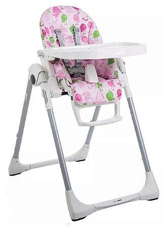 Cadeira Refeição Prima Pappa Zero - Passarinho Rosa - Peg Pérego