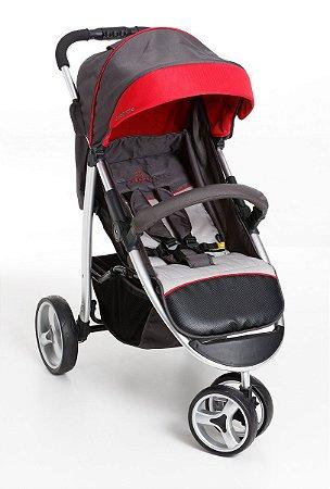 Carrinho De Bebê Apollo - Grafite Vermelho - Galzerano