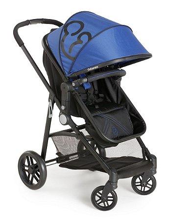 Carrinho De Bebê Gero - Preto Azul - Galzerano