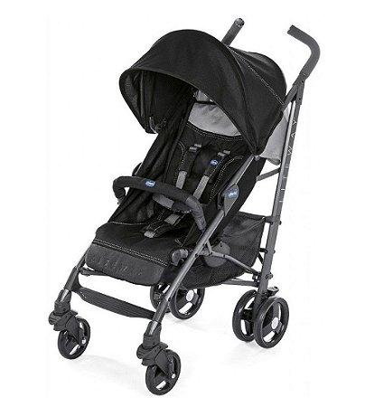 Carrinho de Bebê Lite Way 3 Basic (até 15 kg) - Jet Black - Chicco