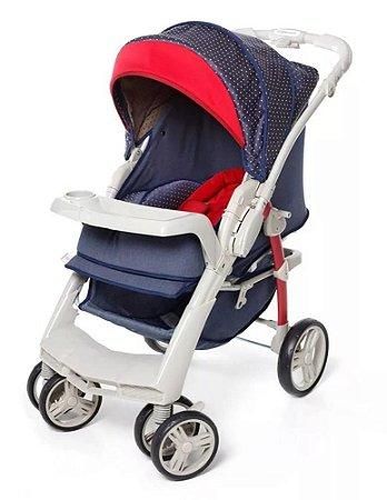 Carrinho De Bebê Optimus - Jeans - Galzerano