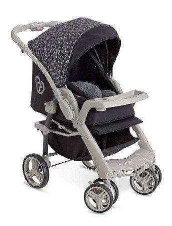 Carrinho De Bebê Optimus - Preto E Cinza - Galzerano