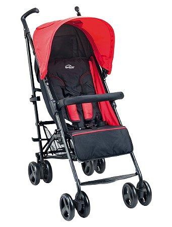 Carrinho De Bebê Sprinter - Preto Vermelho - Burigotto