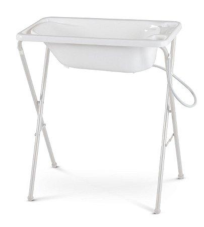 Banheira Plástica com Suporte (até 20 kg) - Branco - Galzerano